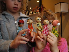 Thift store find: wooden finger puppets