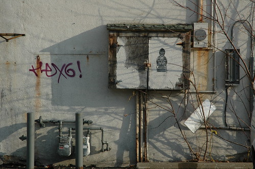 graffiti with shadows and pipes