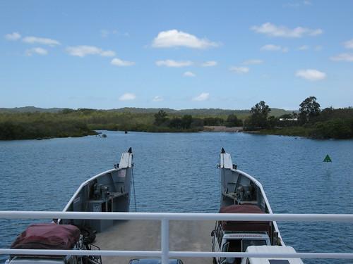 Barge landing