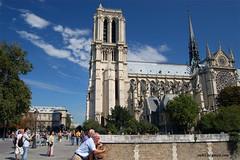Notre Dame under Blue Sky