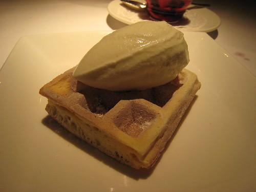 Lemon Waffle and Marscapone Sorbet