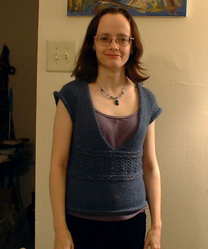 Simple Knitted Bodice, no sleeves yet