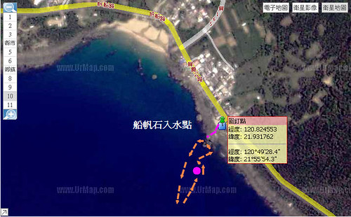 船帆石潛點水中路線圖