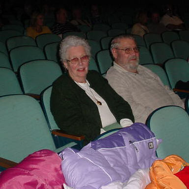 Mom and Wendell enjoying the show