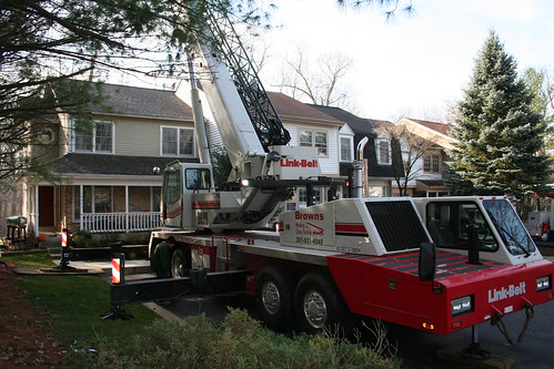 The crane was as wide as our house...