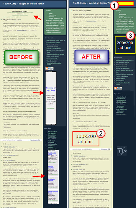 Most Effective Adsense Layout for A Two Column Blog Template