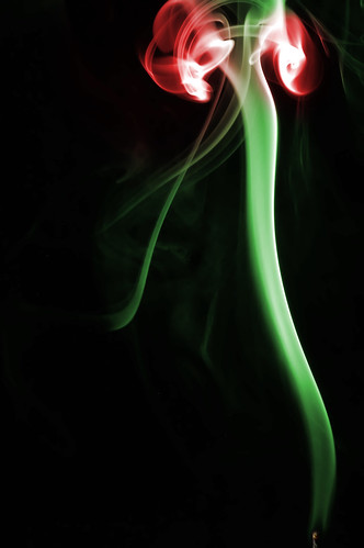 Smoke Abstract, Rose (by hermanau)