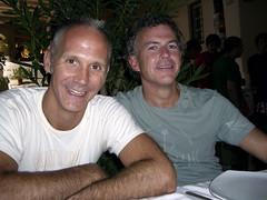 Pickles & Kev, Avra restaurant, Mykonos photo by Paul Reitz Photography