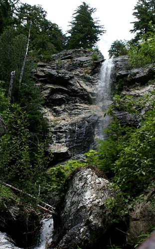 waterfall, sourdough mountain, wa.