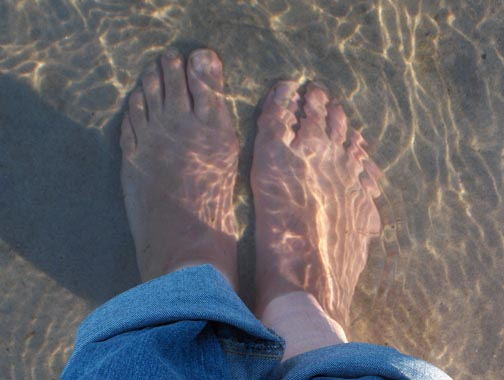 Toes in the Atlantic