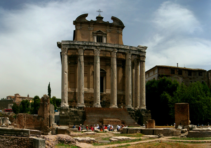 San Lorenzo in Miranda, formerly the Temple of Antonius and Faustina - Roman Fourm