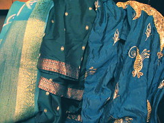 An assortment of kameez fabric