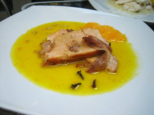 Cow Udder w- Lardo in Orange Sauce