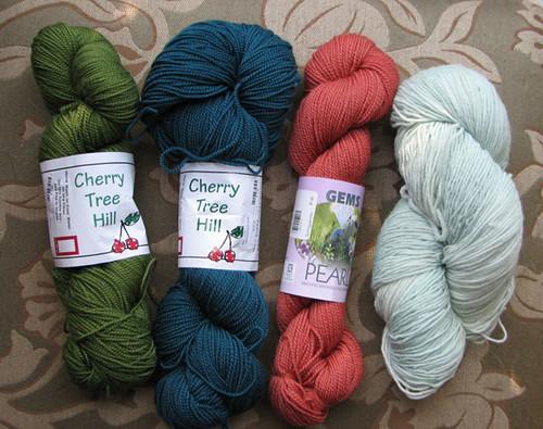 Solid Sock Yarn Choices