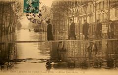 Inondations de Paris - Avenue Ledru-Rollin (Janvier 1910)