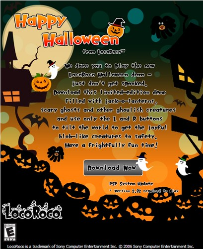 PSP Game Demo: LocoRoco Halloween and MotoGP – Sony Insider