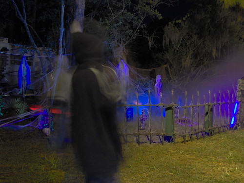 Grave Yard Site At Night