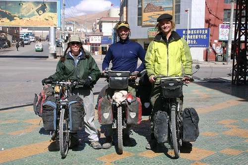 Sage, Chris and I - sooo ready to leave Ali and head deeper into Tibet...