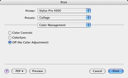 Photoshop: Select Off (No color adjustment)