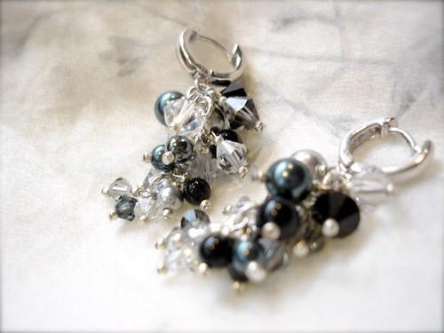 Swarovski Cystal + Pearl Earrings