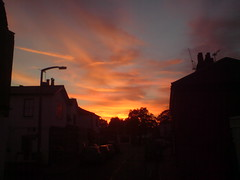 sunset in Thames Ditton