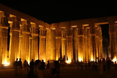 Papyrus-bud Columns, Luxor Temple