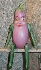 Eggplant lady