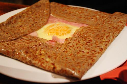 ham and egg galette