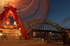 Sydney Harbour Bridge w/ ferris wheel photo by irmz