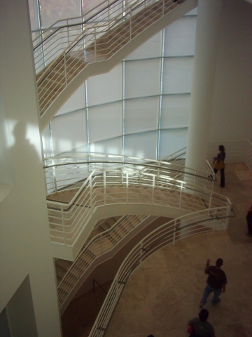 Getty Center interior staircase