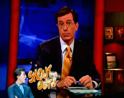 Colbert Report Shout-Out