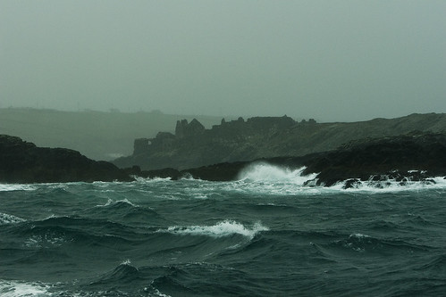 Inisbofin behind, rough seas ahead