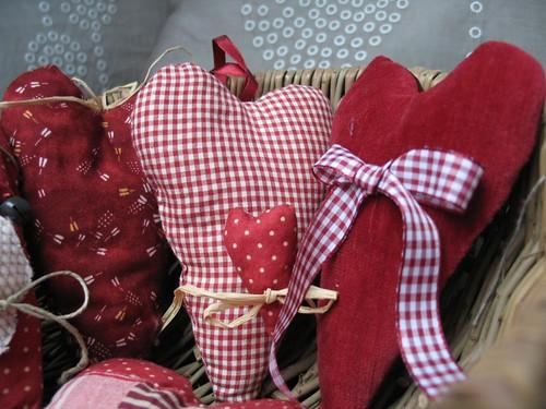 Coeurs tissus noel3