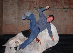 sal, falling off the mechanical bull