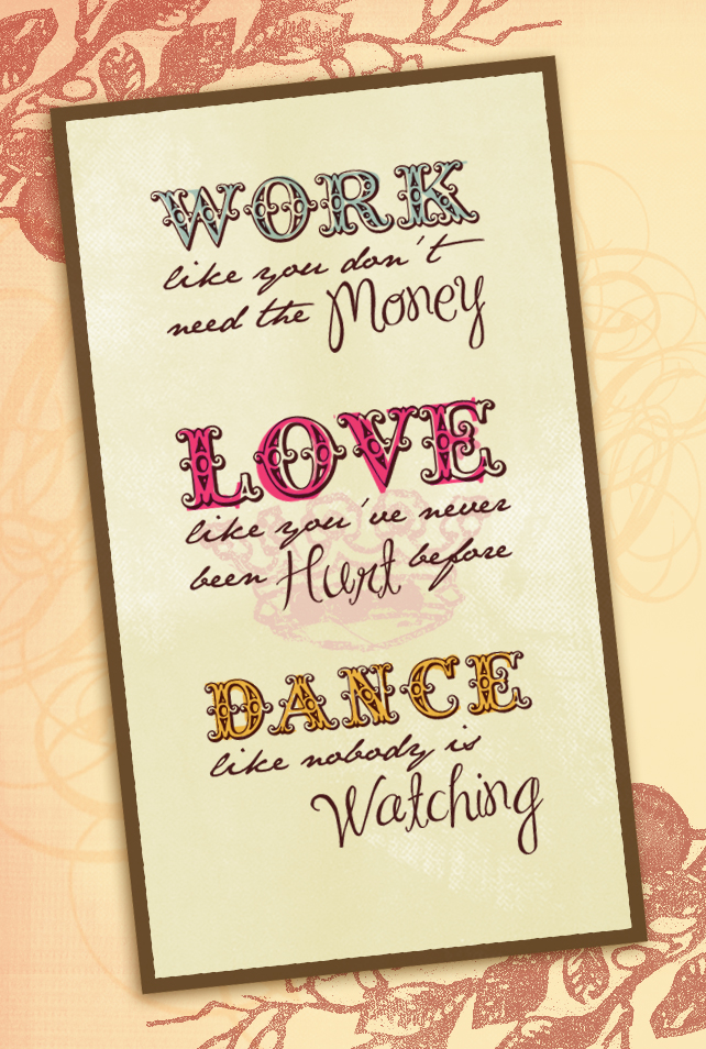 work,love,dance