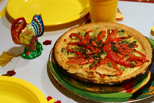 spinach red pepper feta quiche