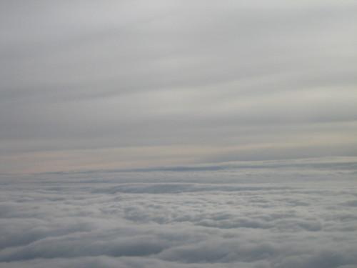 Mar de nubes desde el avión
