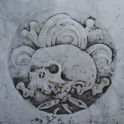 Tombstone detail, Port Royal, Jamaica