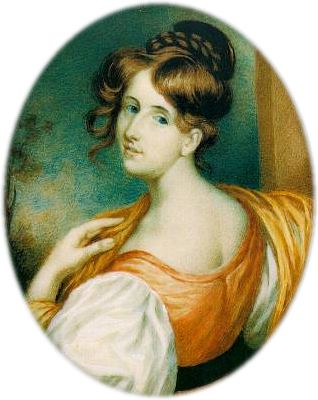 1832 Miniature of Elizabeth Gaskell by William John Thomson