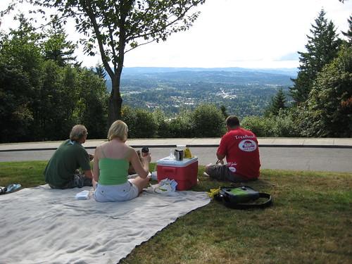 Council Crest picnic