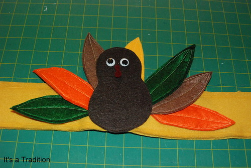 Pottery Barn inspired turkey hat Step 9