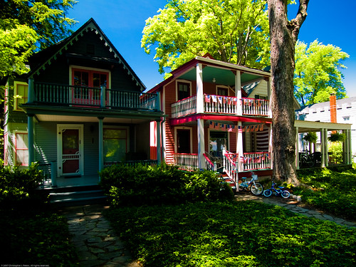 Victorian cottages, Chautauqua Institution, New York, July 2007 (by Conlawprof)