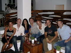 the posse at the Belvedere, Mykonos photo by Paul Reitz Photography