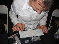 Teo Bartulovic and the Nokia N95 with keyboard