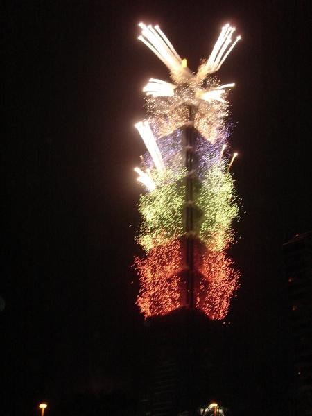 2006年的跨年元旦的台北101