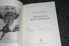 My signed copy of The Blind Watchmaker