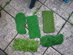 fake grass sample