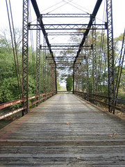 Old bridge over the Muscatatuck