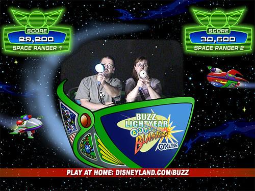 Al & Rebecca at Buzz Lightyear Astro Blasters