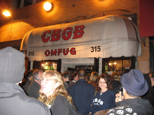 Last Show at CBGB, October 15, 2006, Patti Smith, et al.